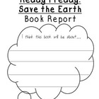 Ready Freddy Save the Earth BOOK REPORT Earth Day Activity