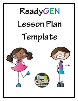 Ready Gen Lesson Plan Template