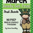 Ready, Set, Print: March Math and Literacy Printables