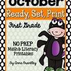 Ready, Set, Print: October Math and Literacy Printables