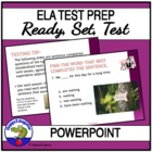 Ready Set Test - Language Arts Test Practice PowerPoint