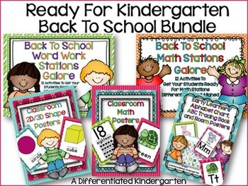 Ready for Kindergarten Back to School Bundle: All You Need to Ready Your Class