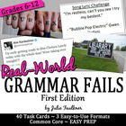Identify Grammar Mistakes from Real World Fails: A Task Cards Set