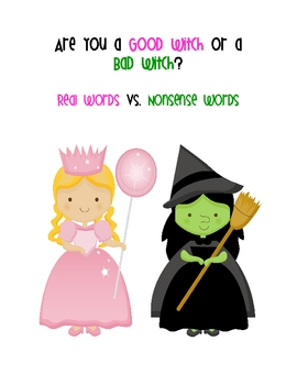 Real vs. Nonsense words: Wizard of Oz
