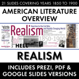 Realism, American Literature Movement, from Civil War to R