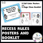Recess Rules Posters/Cloze Book