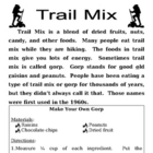 Recipe for Reading Comprehension - Trail Mix