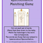 Reconciliation Matching Game - sacrament preparation