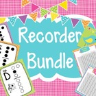 Recorder Bundle-Fingering Charts, Checklists and Forgotten
