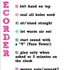 Recorder Rules Poster (White and Brights)