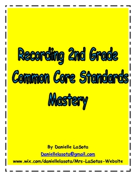 Recording and Graphing 2nd Grade Common Core Standards