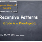 Recursive Patterns - Lesson Plan - Grades 6 - 12