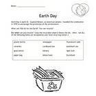 Recycle for Earth Day