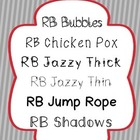 Red Bird Font Set #1 (6 Fonts for Personal or Commercial Use)