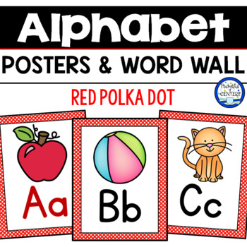 Red Polka Dot Alphabet & Word Wall Cards