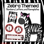 Zebra Numbers, Letters, and Nameplates (Red Color Scheme)