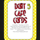 Red and Yellow Daily 5 CAFE Strategies Cards