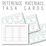 Reference Materials - Task Cards
