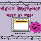 Reference Skills Week to Week
