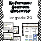 Reference Sources Activity for Grades 2-3