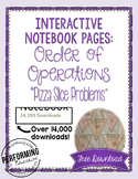 Order of Operations Interactive Math Notebook Freebie