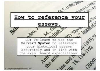 Essay Reference Page Example