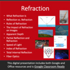 Refraction Part 1 - Optics PowerPoint Lesson & Student Not