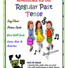 Regular Past Tense Verbs Song and Picture Cards- 3 sounds of 'ed'