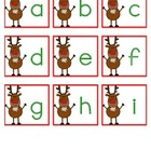 Reindeer Alphabet - Picture Match