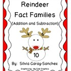 Reindeer Fact Families (Addition and Subtraction)
