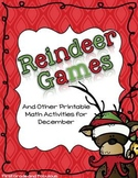 Reindeer Games--Math Activities for First Grade