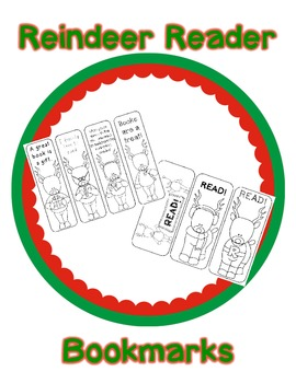 Reindeer Read Bookmarks
