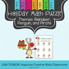 Reindeer Roundup Math Holiday Puzzle
