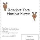 Reindeer Teen Number Match