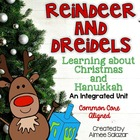 Reindeer and Dreidels {Learning about Christmas and Hanukkah}
