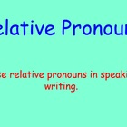 Relative Pronouns Smart Board Lesson