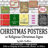 Religious Bible Christmas Posters - Great Gifts or Writing