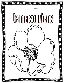 FREE This Is A Simple And FUN Activity For Kids To Colour Remembrance Day Memorial Great In Core French Immersion Grades 1 2