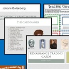 Renaissance Trading Cards with Powerpoint Game Trading Actvity