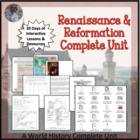 Renaissance and Reformation COMPLETE Unit for World History