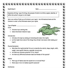 Reptile Informational Report Writing Sheets, 12 Pages Total!!