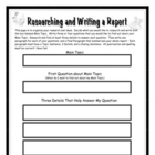 Research, Organize, and Write a Report