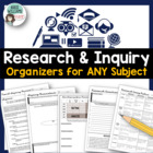 Research Skills Organizers / Worksheets - Great for ANY subject!