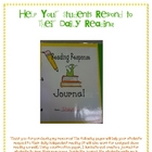 Respond to Reading! A reading journal and response questions