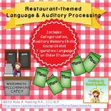 Restaurant Themed  Language Skills & Auditory Processing Cafe
