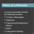 Resume Design PowerPoint