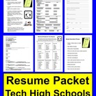 Resume Packet for Technical High School Students