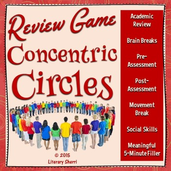 Review Game: Concentric Circles (Common Core Aligned)