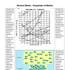 Review Sheet - Properties of Matter (6 - 9)