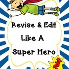 Super Hero Revise and Edit Tic Tac Toe